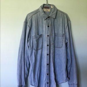 Levi's chambray light denim shirt great style nice